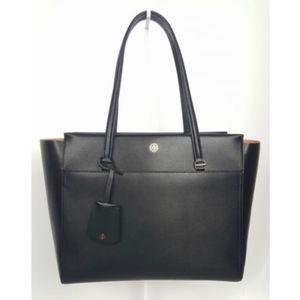 Tory Burch Parker Tote Black Leather Handbag NEW